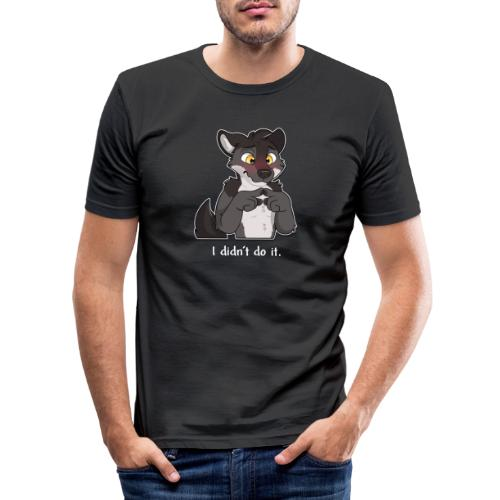 I didn't do it - Männer Slim Fit T-Shirt