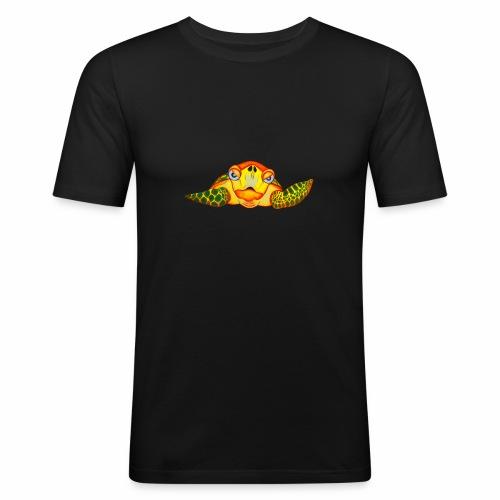 Boze Turtle Fluo - Mannen slim fit T-shirt