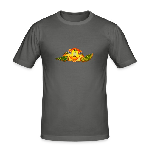 Angry Turtle Fluo - T-shirt près du corps Homme