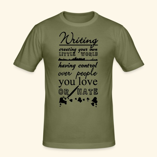 Writing - Men's Slim Fit T-Shirt