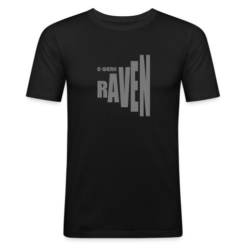 EW-RAVEN-mittelgrau - Männer Slim Fit T-Shirt