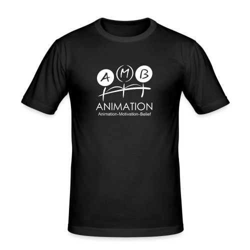 AMB Logo Animation Motivation Belief - Men's Slim Fit T-Shirt