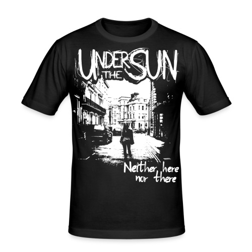 Neither Here Nor There White on Black png - Men's Slim Fit T-Shirt