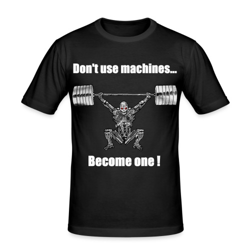 terminator V4 png - T-shirt près du corps Homme