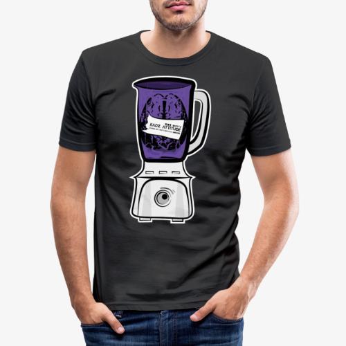 Hirn im Mixer_ lila - Männer Slim Fit T-Shirt