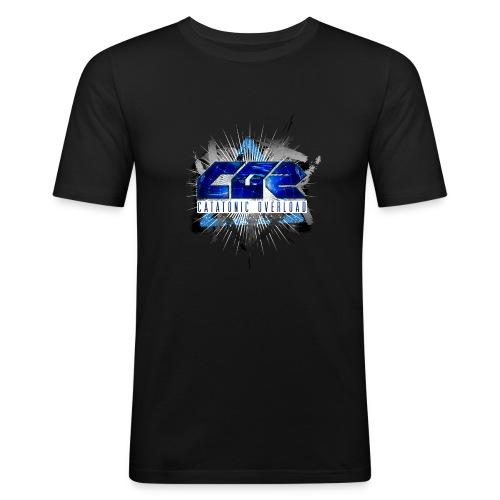 catatonic overload - Mannen slim fit T-shirt