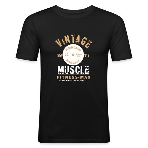 vintage muscle3 - T-shirt près du corps Homme