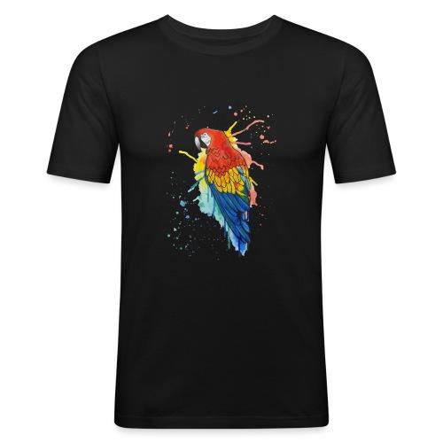Parrot Watercolors Nadia Luongo - Maglietta aderente da uomo