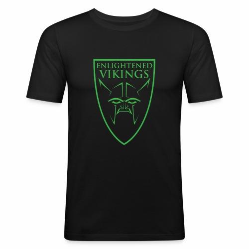 Enlightened Vikings (Org) - Slim Fit T-skjorte for menn