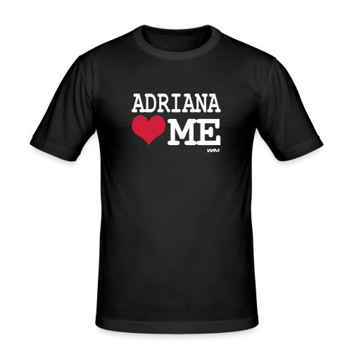 adriana loves me - Obcisła koszulka męska