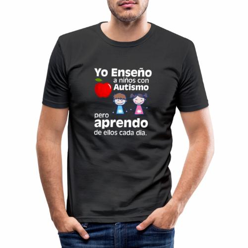 Yo aprendo del Autismo - Camiseta ajustada hombre