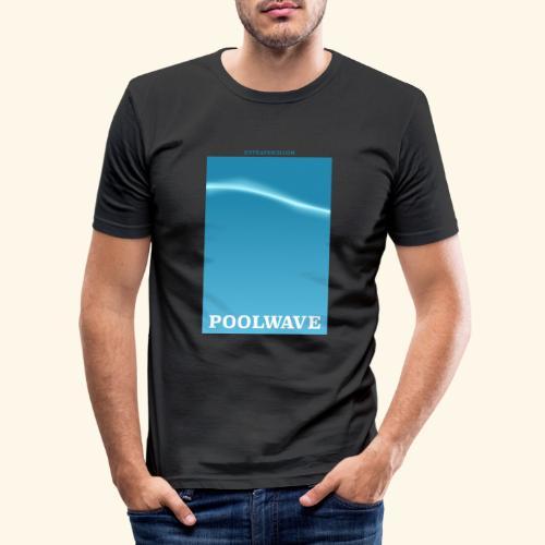 poolwave - Männer Slim Fit T-Shirt