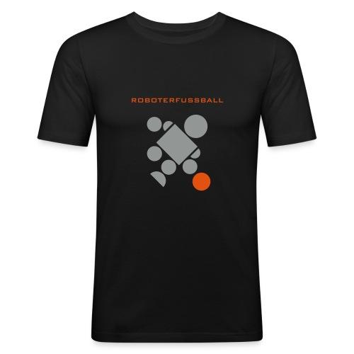 roboterfussballshirt - Männer Slim Fit T-Shirt
