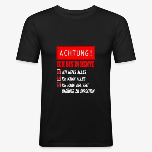 Ich bin in Rente - Rentner 2021 Rentnerin 2021 - Männer Slim Fit T-Shirt