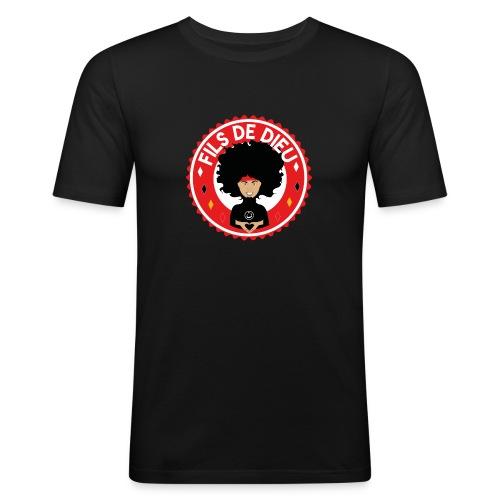 Fils de Dieu rouge - T-shirt près du corps Homme