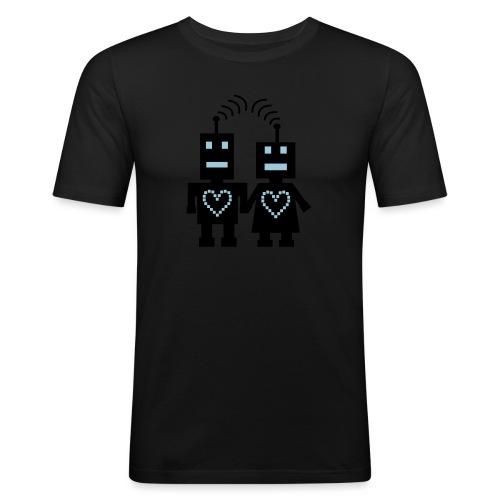 Roboter Liebe - Männer Slim Fit T-Shirt