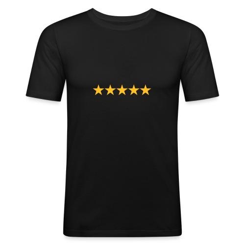 Rating stars - Miesten tyköistuva t-paita