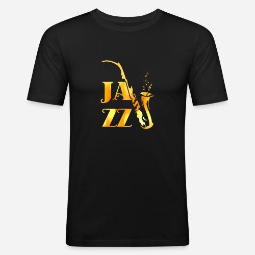 Jazz Tribal Saxophon - Männer Slim Fit T-Shirt