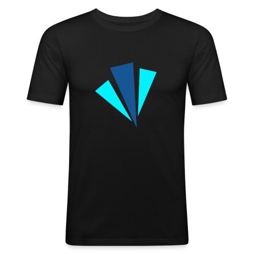 Blauwe Objecten T-shirt - Mannen slim fit T-shirt
