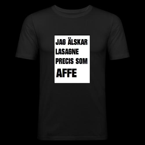 Affe älskar lasagne - Slim Fit T-shirt herr