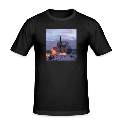 nannestad kirke f - Slim Fit T-skjorte for menn