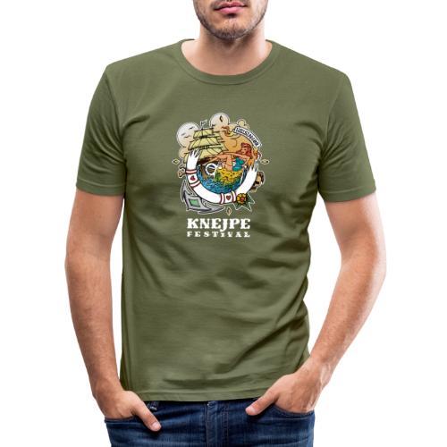 Knejpe Festival - tattoo med hvid tekst - Herre Slim Fit T-Shirt