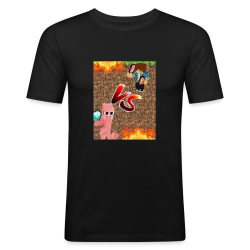 Simon vs. Schwein - Männer Slim Fit T-Shirt