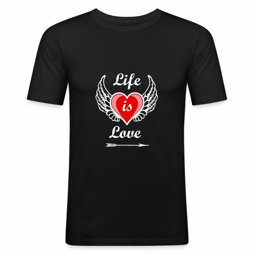 Life is Love - Männer Slim Fit T-Shirt