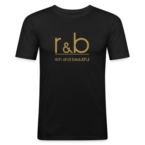 r&b - Männer Slim Fit T-Shirt