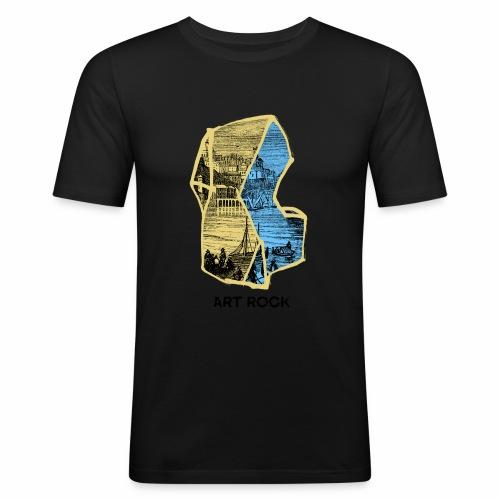 ART ROCK No 4 colour - Mannen slim fit T-shirt