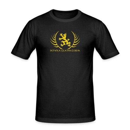 Schola logo with text - Men's Slim Fit T-Shirt