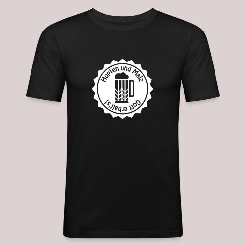 Hopfen und Malz - Gott erhalt's! - Bier - Alkohol - Männer Slim Fit T-Shirt