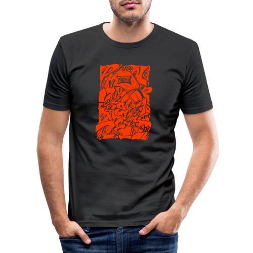 lamp detective ill shadow ORANGE - Maglietta aderente da uomo