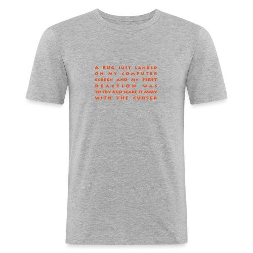 bug - Miesten tyköistuva t-paita