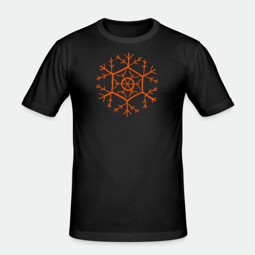 Snowflake molecule - Men's Slim Fit T-Shirt