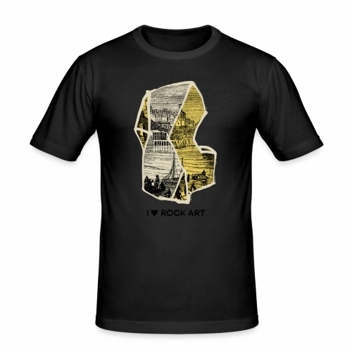 I LOVE ROCK ART No 2 colour - Mannen slim fit T-shirt