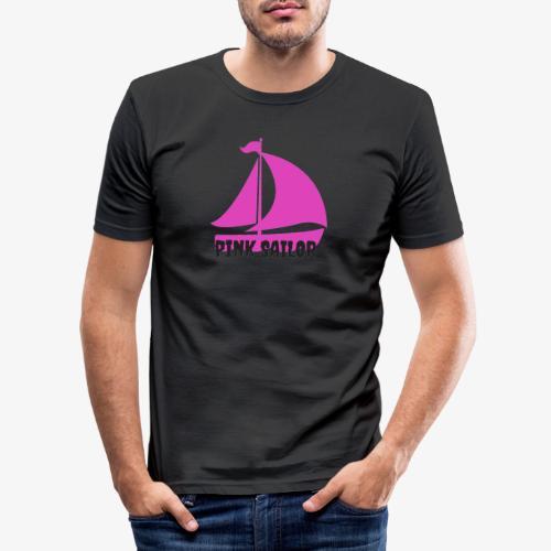 PINK SAILOR - Slim Fit T-shirt herr