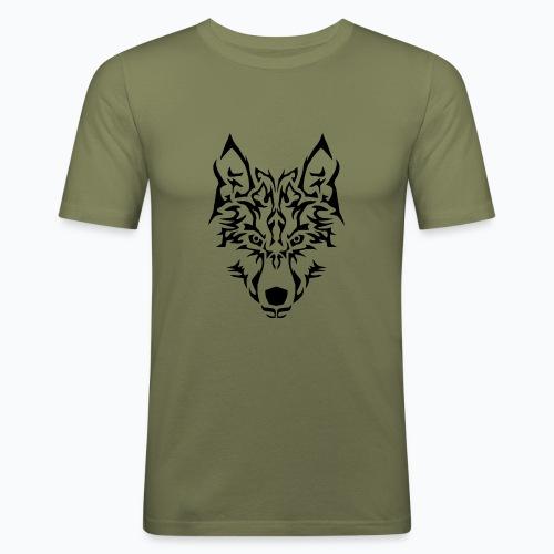 Tribal Wolf - T-shirt près du corps Homme
