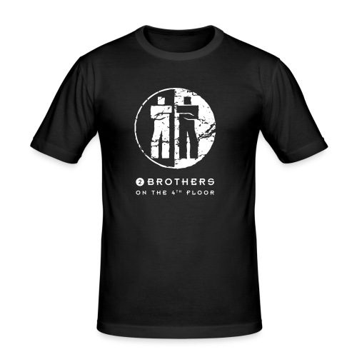 2 Brothers White text - Men's Slim Fit T-Shirt