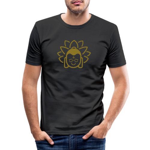 Boeddha hoofd blad - Mannen slim fit T-shirt