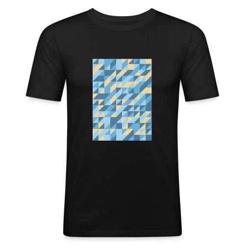 Triangle Design - Maglietta aderente da uomo
