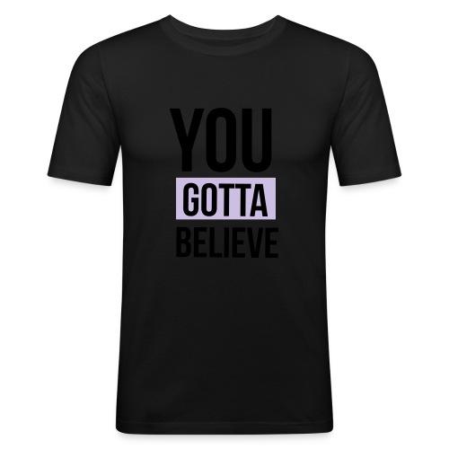 YGB-merch-logo-001 - Mannen slim fit T-shirt