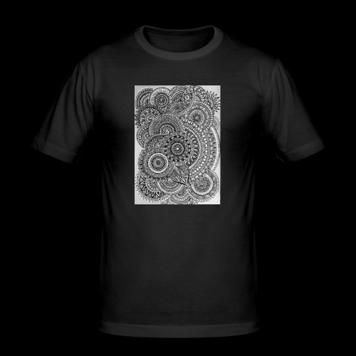Chaos and Symmetry // - Men's Slim Fit T-Shirt