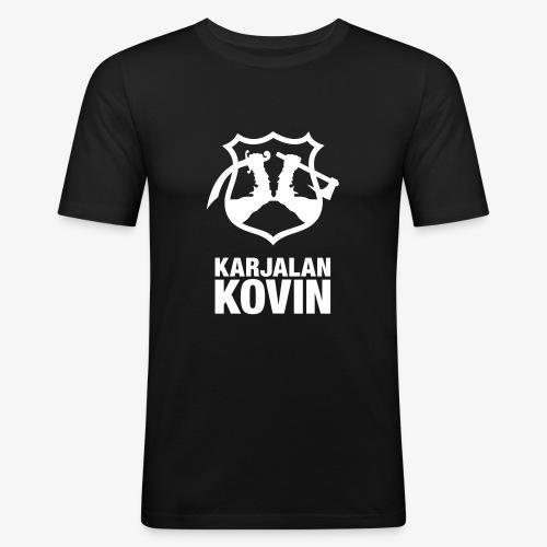 karjalan kovin pysty - Miesten tyköistuva t-paita
