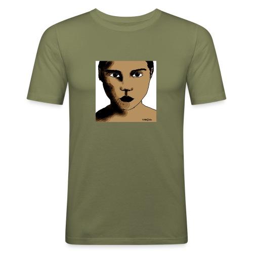 volto0001-jpg - Maglietta aderente da uomo