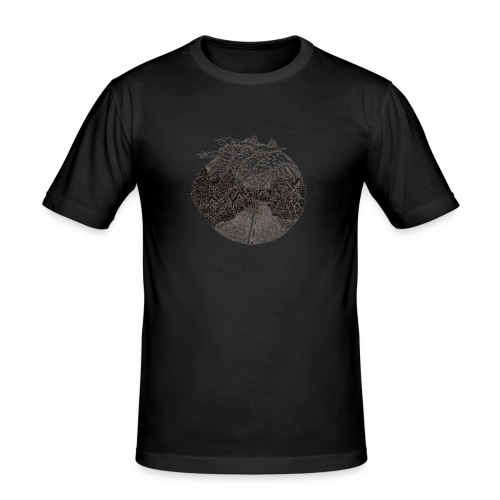 Road - Obcisła koszulka męska