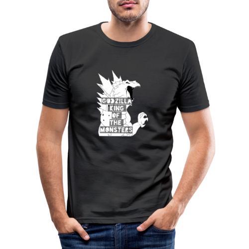 Godzilla - Obcisła koszulka męska