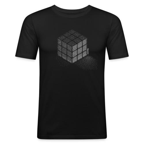 Rubik's Cube Art Pointillisme - T-shirt près du corps Homme