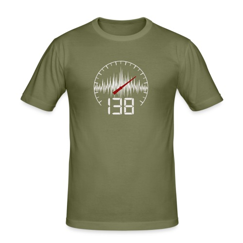 138 (White) - Slim Fit T-shirt herr