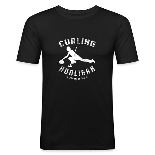 Curling Hooligan - Mannen slim fit T-shirt
